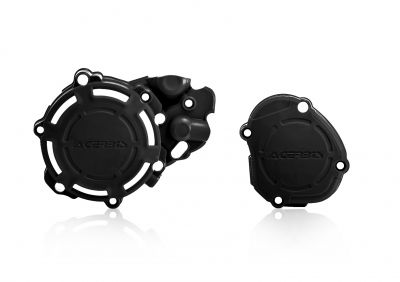 ACERBIS X-POWER ENGINE CASING COVER GUARDS YAMAHA YZ125 2005-2021 BLACK