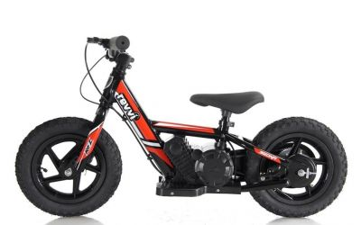 "NEW! REVVI 12"" RED ELECTRIC BALANCE BIKE, FOR KIDS 2-6 YEAR OLDS"