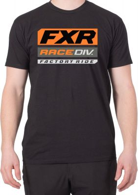FXR M RACE DIVISION T-SHIRT 20 Black/Orange