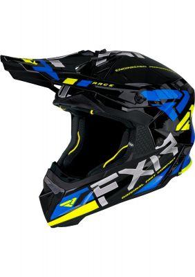FXR HELIUM RACE DIV HELMET 21 BLUE/HI-VIS