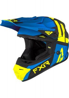 FXR YOUTH LEGION HELMET 21 BLUE/HI VIS