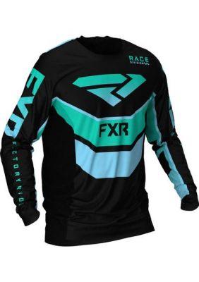 FXR 2021 PODIUM MX JERSEY BLACK/MINT/SKY BLUE