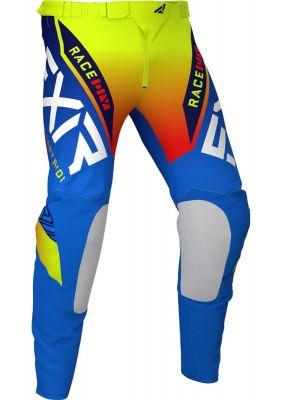 FXR 2021 YTH PRO-STRETCH MX PANT BLUE/HI VIS/RED