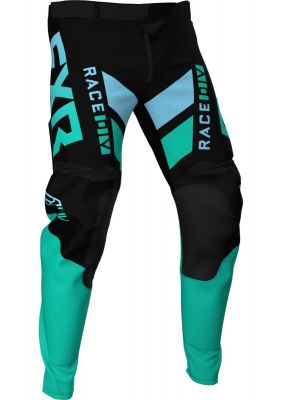 FXR 2021 PODIUM MX PANT BLACK/MINT/SKY BLUE