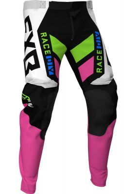 FXR 2021 PODIUM MX PANT BLACK/WHITE/E PINK/LIME/BLUE