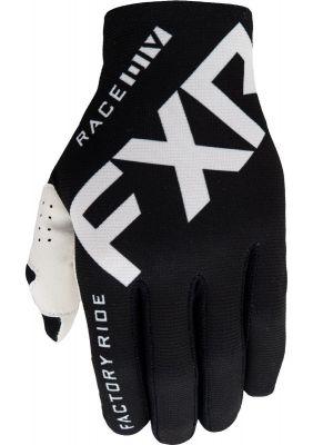 FXR 2021 SLIP-ON LITE MX GLOVE BLACK/WHITE