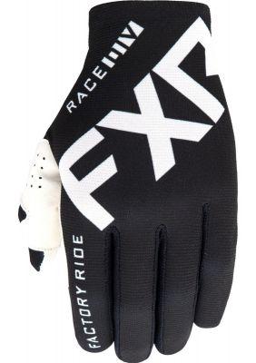 FXR 2021 YTH SLIP-ON LITE MX GLOVE BLACK/WHITE
