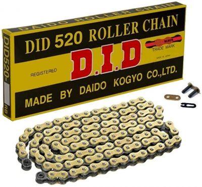 DID 520 CHAIN 118L GOLD (RJ) GOLD&BLACK LINKS DID520GB118