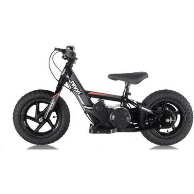 "NEW! REVVI 12"" BLACK ELECTRIC BALANCE BIKE, FOR KIDS 2-6 YEAR OLDS"