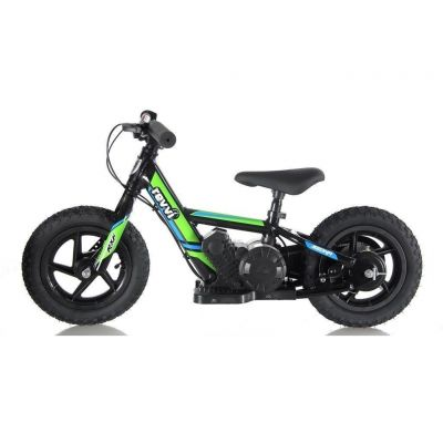"NEW! REVVI 12"" GREEN ELECTRIC BALANCE BIKE, FOR KIDS 2-6 YEAR OLDS"