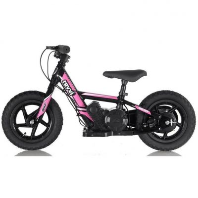 "NEW! REVVI 12"" PINK ELECTRIC BALANCE BIKE, FOR KIDS 2-6 YEAR OLDS"