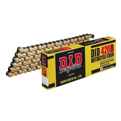 DID 420D CHAIN 134L G&B (RJ) GOLD & BLACK LINKS