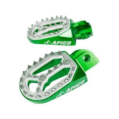 APICO FOOT PEG PRO-BITE KAWASAKI KX65 00-21, KX85 01-21 GREEN
