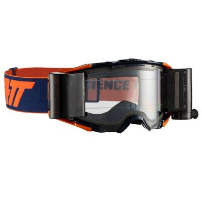 LEATT VELOCITY 6.5 ROLL-OFF GOGGLE INK/ORANGE - CLEAR LENS
