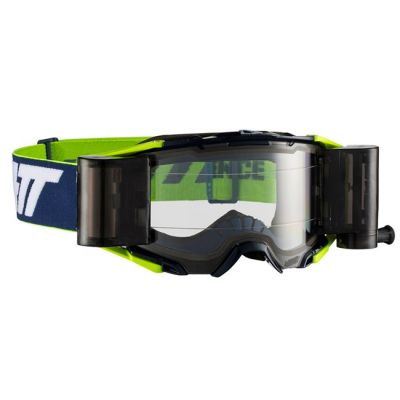 LEATT VELOCITY 6.5 ROLL-OFF GOGGLE INK/WHITE/YELLOW - CLEAR LENS