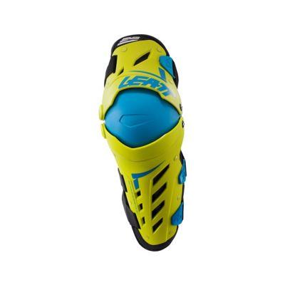 LEATT DUAL AXIS KNEE GUARDS LIME/BLUE