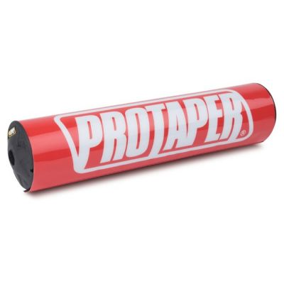 """PRO TAPER 10"""" ROUND BAR PAD - RACE RED"""