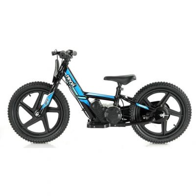 "NEW! REVVI 16"" BLUE ELECTRIC BALANCE BIKE, FOR KIDS 5+ YEAR OLDS"