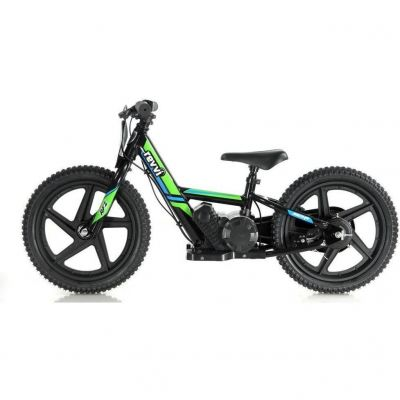 "NEW! REVVI 16"" GREEN ELECTRIC BALANCE BIKE, FOR KIDS 5+ YEAR OLDS"