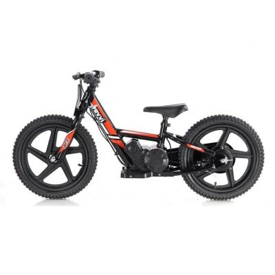 "NEW! REVVI 16"" RED ELECTRIC BALANCE BIKE, FOR KIDS 5+ YEAR OLDS"