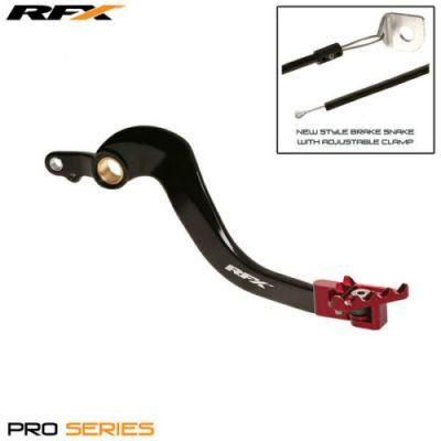 RFX PRO FT REAR BRAKE LEVER (BLACK/RED) HONDA CR250 02-07